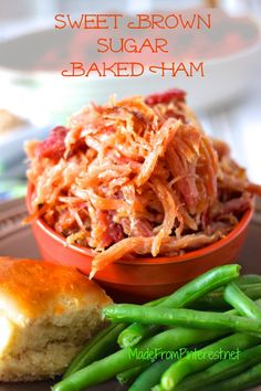 Sweet Brown Sugar Baked Ham has brown sugar glaze in every morsel. This ham is drenched in addicting flavor!
