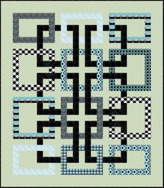 Movement in Squares Quilt by Wendy Sheppard of Ivory Spring for Benartex Modern Quilt Patterns, Quilt Block Patterns, Pattern Blocks, Modern Quilt Blocks, Celtic Quilt, Patchwork Quilt, Jellyroll Quilts, Denim Quilts, Batik Quilts