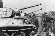 """Т-34 from II SS Panzer Division """"Das Reich"""", Kharkov, April 1943"""