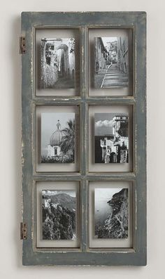 Rustic Gray Windowpane Frame        ♪ ♪ ... #inspiration #diy GB http://www.pinterest.com/gigibrazil/boards/