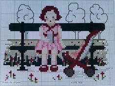 Kijkje in Laura's Ateliertje: september 2011 ATELIER LAURA Petite fille et sa pousette 2