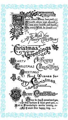 "Christmas Greetings - Hearty Christmas // Clear stamps pack (4""x7"") FLONZ Flonz http://www.amazon.com/dp/B00DKJ3TWY/ref=cm_sw_r_pi_dp_-ujHub0Z60A9V"