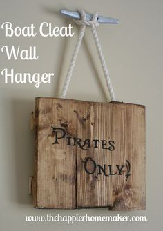 Boat Cleat Wall Hanger-The Happier Homemaker Nautical Decor