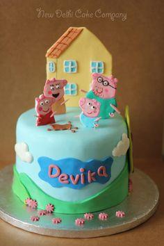 Peppa Pig cake by New Delhi Cake Company https://www.facebook.com/newdelhicakecompany