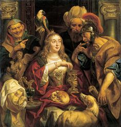 JORDAENS - Flemish (Antwerp 1593 - 1678) ~ Cleopatra's Feast,1653