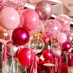 Pink Balloon Bunches Delivered London