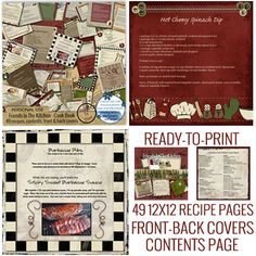 A recipe album / cook book that's ready to print!  Great gift idea!