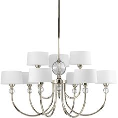 Crystal chandelier $596. South Shore Decorating: Progress Lighting P4675-104 Fortune Transitional Chandelier PG-P4675-104