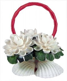Shell Flower Basket