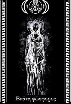 Hecate con el símbolo del templo de Hecate (España)