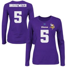 Youth Minnesota Vikings Teddy Bridgewater Purple Primary Gear Name ...