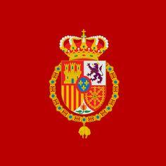 Estandarte o pendón real de Felipe VI de #España    Royal standard of Philip VI of #Spain