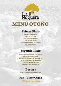 Menu de Otoño Restaurante La Noguera