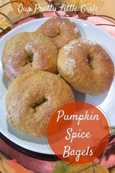 Pumpkin Spice Bagel {Recipe}