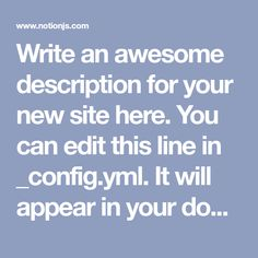 Write an awesome description for your new site here. You can edit this line in _config.yml. It will appear in your document head meta (for Google search resu...