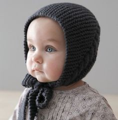 Baby Bonnet Hat, Soft Knit Baby Hat, Baby Knit hat, sizes from Newborn Baby Hats Knitting, Knitting For Kids, Knitted Hats, Crochet Hats, Baby Hat Patterns, Baby Knitting Patterns, Crochet Patterns, Tricot Baby, Baby Bonnets