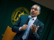 """Last night at Hudson County Community College (HCCC), actor Giancarlo Espositio was animated, energetic, and downright jovial.  He was the polar opposite of """"Gustavo Fring"""", his emmy-nominated portrayal of the meth kingpin on the critically acclaimed TV series """"Breaking Bad."""""""