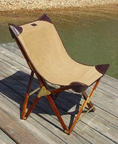 Safari chair / folding chair - modern.