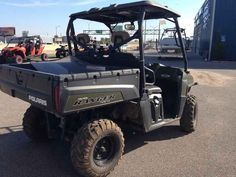 Used 2014 Polaris Ranger Crew 800 EFI Sage Green ATVs For Sale in Kansas.