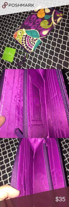 👜Vera Bradley Wallet👜NWT Accordion Wallet-Plum Crazy-Vera Bradley NWT Suggested Retail $49👜❤️ Vera Bradley Bags Wallets