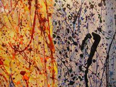 pittura su vetro.PARTICOLARE.tecnica:dripping di pigmenti e resine. Created by Elvira Chiodino.