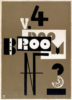 Broom Volume 4, Number 3, February 1923 cover by El Lissitzky
