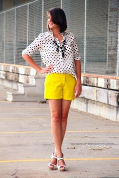 Sunny Yellow and Polka Dots