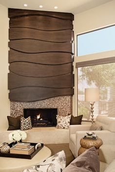 Ridiculous Tips: Contemporary House Remodel contemporary living room design. Mosaic Fireplace, Home Fireplace, Modern Fireplace, Fireplace Surrounds, Fireplace Design, Fireplace Ideas, Fireplaces, Contemporary Bedroom, Contemporary Design