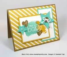Stampin' Up! B.Y.O.P. and Work of Art baby card created by Mary Fish, Stampin' Pretty, #stampinup