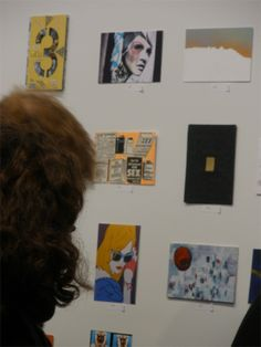 Famous and not yet famous artists - all exhibiting at The Postcards from the Edge, Benefit for VISUAL AIDS.  You only find out the name of the artist after you have bought the postcard. http://www.visualaids.org/projects/detail/postcards#.Uua0FbROmUm #postcards #nycart