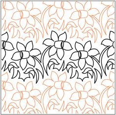 Meadow Flowers quilting pantograph pattern by Lorien Quilting