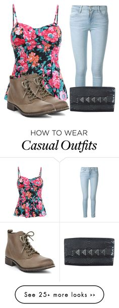 """casual outfit"" by abbygirly on Polyvore featuring Frame Denim, Steve Madden and Michael Kors"
