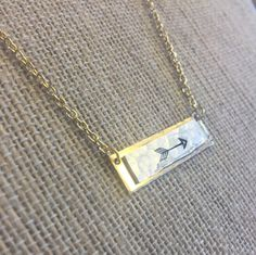 Arrow Bar Necklace, arrow jewelry, gold bar necklace, hammered jewelry, boho jewelry, dainty necklace, arrow necklace by JustStampItGifts on Etsy https://www.etsy.com/listing/488375562/arrow-bar-necklace-arrow-jewelry-gold