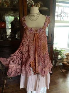 Luv Lucy Crochet Tunic Lucy's Vintage Plums  by LuvLucyArtToWear, $175.00