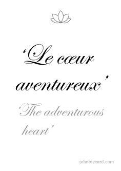 ♔ The adventurous heart