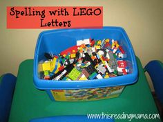 Spelling with Lego Letters - would be perfect for sight word practice