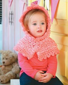 KNIT: A cool hood for a little girl