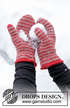 Felted - Free knitting patterns and crochet patterns by DROPS Design Knitting Stitches, Knitting Patterns Free, Free Knitting, Crochet Patterns, Free Pattern, Knitted Mittens Pattern, Knit Mittens, Mitten Gloves, Drops Design