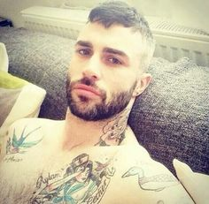 What a Combo !! Beard/Tattoos/Eyes and that Mouth