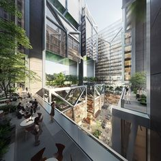 Foster + Partners Design Open-Air Office Tower for Taipei,Goldsun HQ. Image Courtesy of Foster + Partners Open Architecture, Architecture Details, Foster Partners, Commercial Street, Urban Fabric, News Around The World, Sky Garden, Interior Photography, Commercial Design