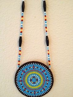 Native American Beaded Medallions | Medallion w / Bead and Buffalo bone chain by ... | Native American Be ...