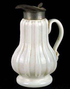 Milk Glass Syrup Pitcher