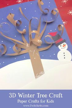 How to make a winter tree craft with construction paper -.-How to make a winter tree craft with construction paper – Twitchetts A Winter Tree Craft that will make people say wow! It's an easy paper craft that is perfect for kids of all ages. Winter Trees, Winter Fun, Winter Snow, Paper Crafts For Kids, Preschool Crafts, Toddler Crafts, Paper Crafting, Tree Crafts, Flower Crafts