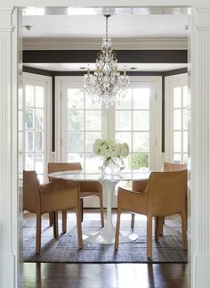 Dining Space. Love the chairs//