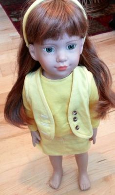 """Magic Attic Club Megan Yellow Bear 6"""" Doll 16""""-18"""" New"""