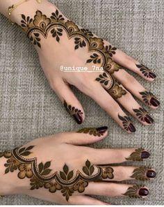Mehndi Designs: Simple And Easy Henna Henna Hand Designs, Mehndi Designs Finger, Pretty Henna Designs, Modern Henna Designs, Indian Henna Designs, Henna Tattoo Designs Simple, Floral Henna Designs, Mehndi Designs Book, Mehndi Designs 2018