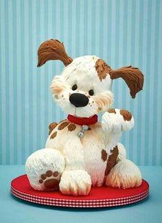 Fondant Cakes, Cupcake Cakes, Fondant Molds, Puppy Dog Cakes, Puppy Cupcakes, Sculpted Cakes, Bird Cakes, Cake Wrecks, Gateaux Cake