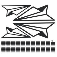 The Decal Guru Paper Airplanes Wall Decal