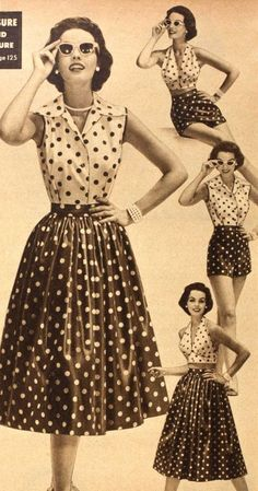 Tuppence Ha'penny: Travelling Light: Weekend Wardrobes 4 piece sets ( 4 pieces make 4 different outfits) #1950s #vintage