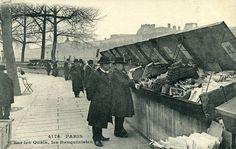 Histoire des bouquinistes des quais de Seine - Paris - France